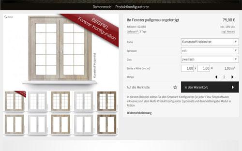 Produktkonfigurator, Artikelvarianten, Modul, viele, Icon, Grafik, grafischer, Shopsystem, Shopsoftware